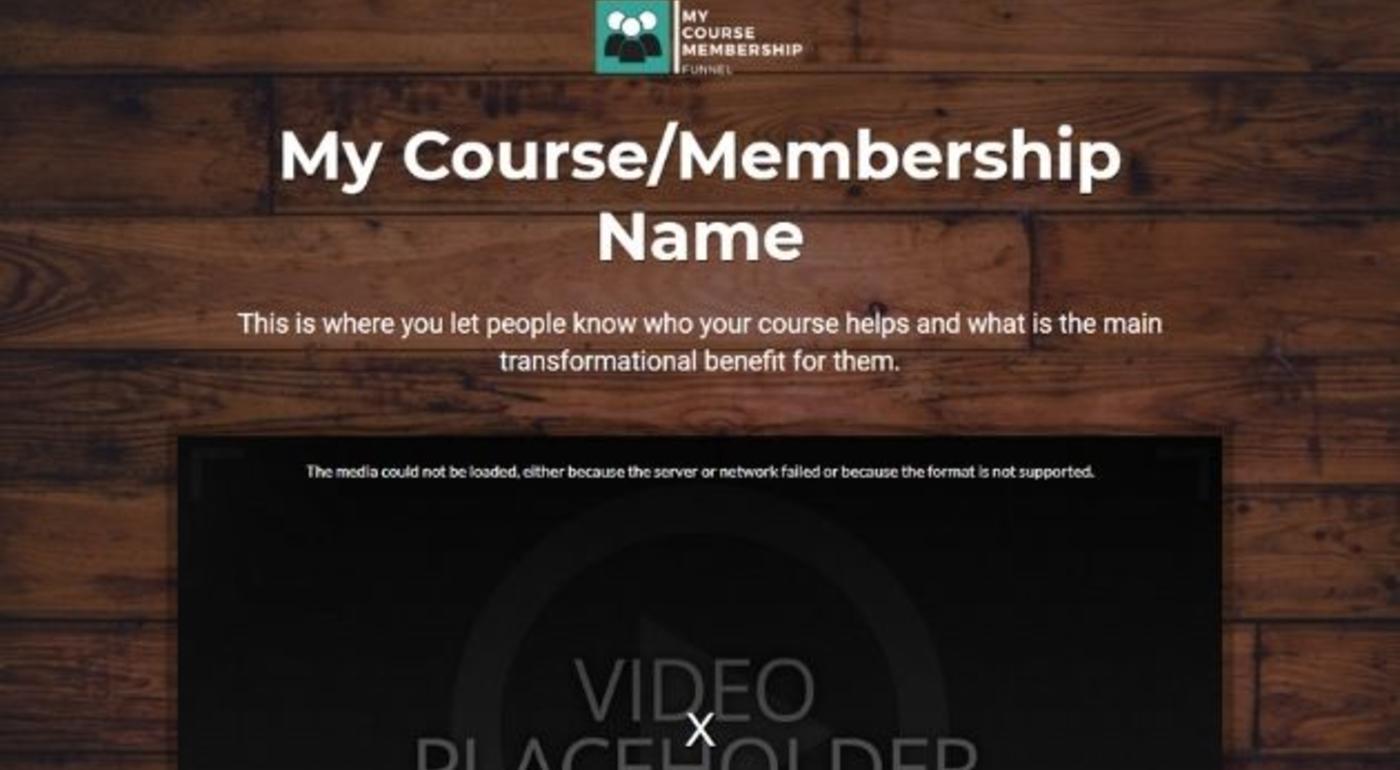 Course/Membership Funnel